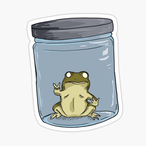 Frog in a Jar  Sticker