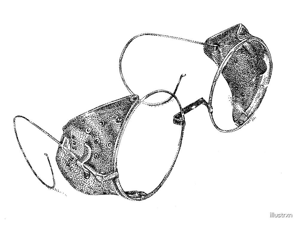 Dotwork vintage goggles by illustrxn