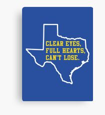 Clear Eyes, Full Hearts, Can't Lose – Friday Night Lights Canvas Print