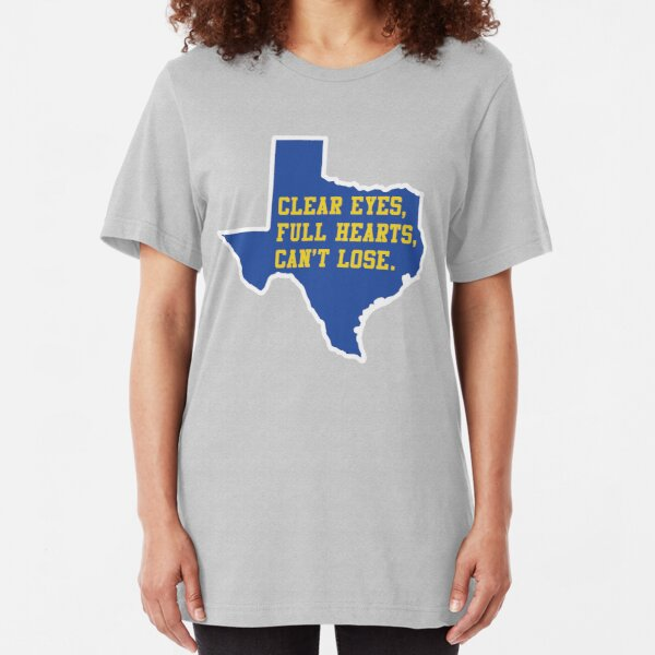 Clear Eyes, Full Hearts, Can't Lose – Friday Night Lights Slim Fit T-Shirt