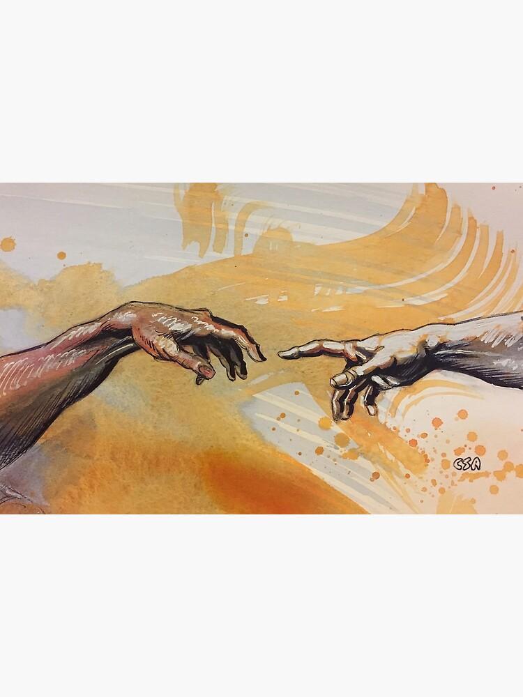 Nacimiento de Adán Michelangelo Capilla Sixtina de MasterpieceArt
