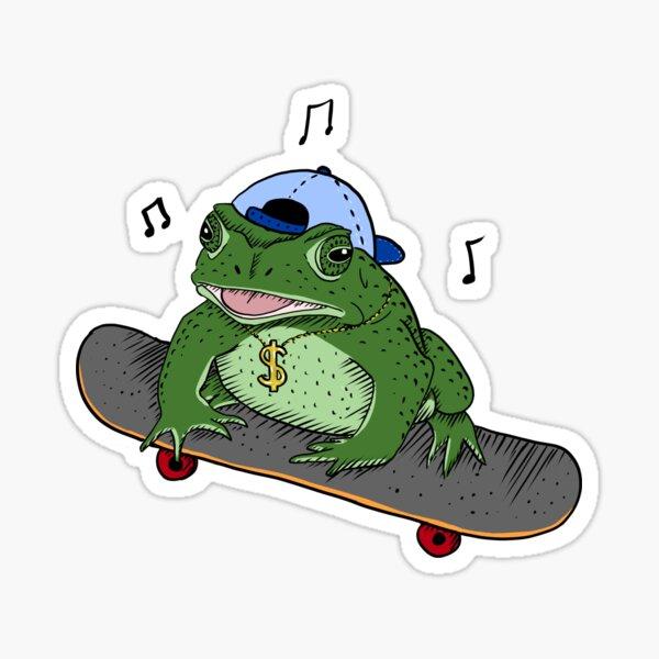 Skater Toad Sticker