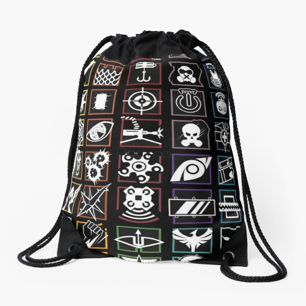 Rainbow six siege, compilation Drawstring Bag