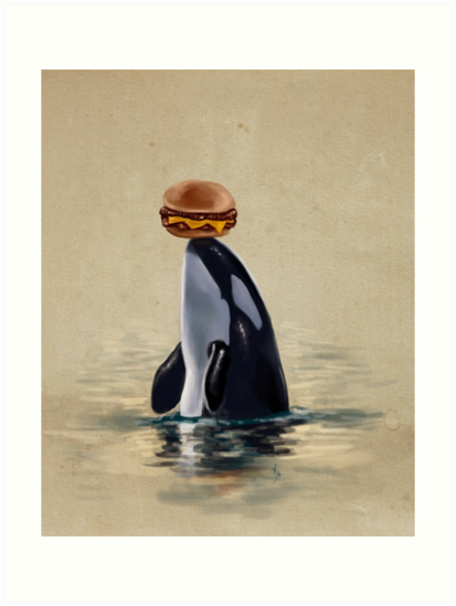 Orca Can Has Cheeseburger by Rebecca Flaum