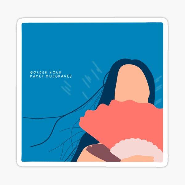 golden hour album cover Sticker
