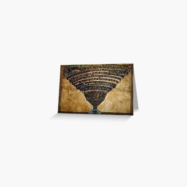 Sandro Botticelli - La Carte de l'Enfer Greeting Card