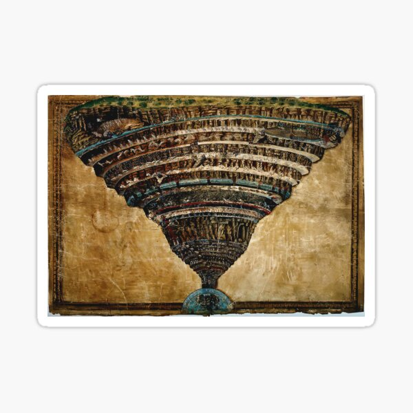 Sandro Botticelli - La Carte de l'Enfer Sticker