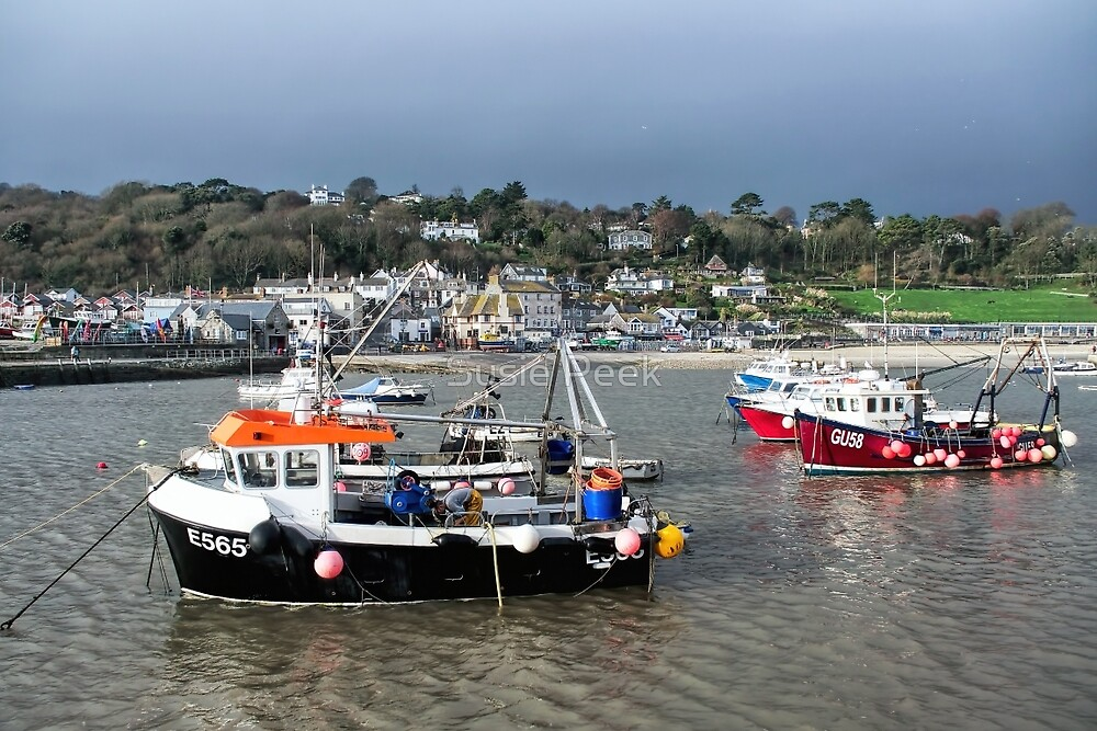 December Harbour - Lyme Regis by Susie Peek