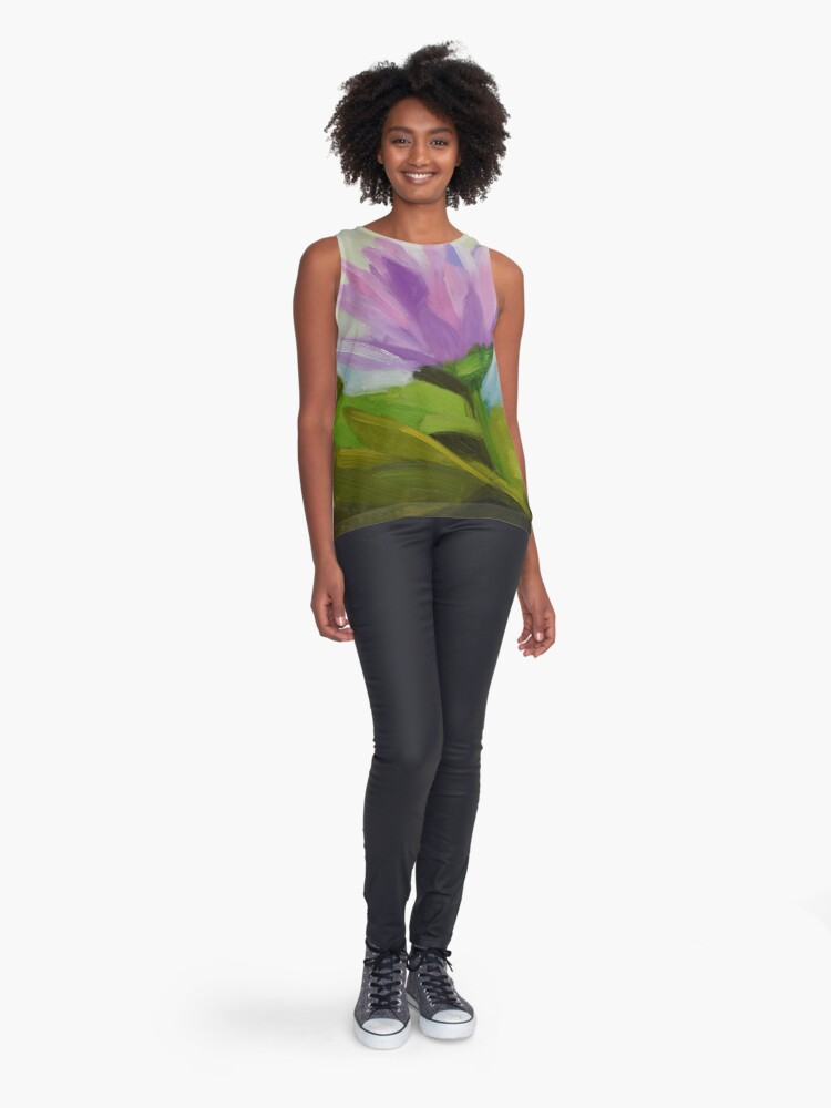 Alternate view of Hot Pink Waterlily Sleeveless Top