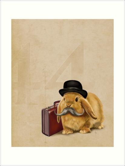 Commuter Bunny by Rebecca Flaum