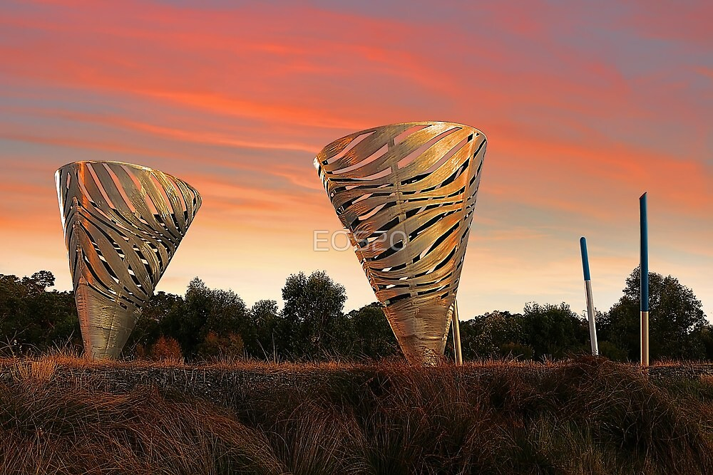 Sunset At Water Dance Sculptures by EOS20