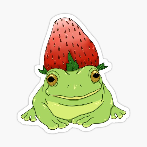 strawberry frog Sticker