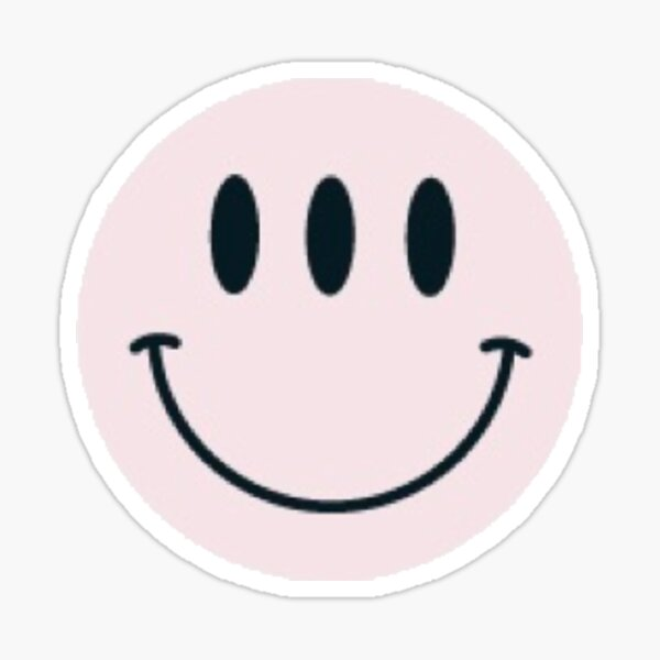 Glossier smiley face Sticker