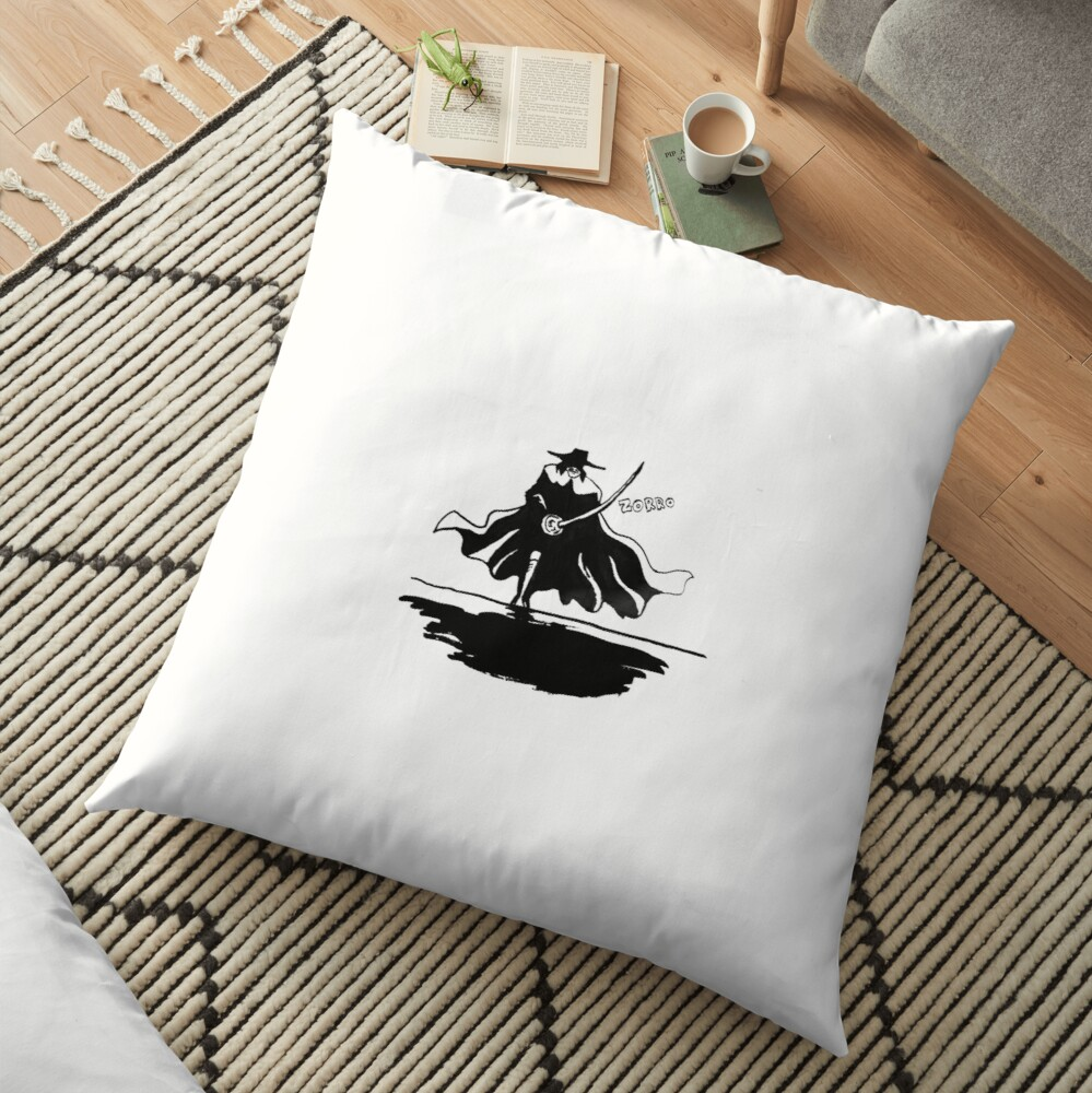 Zorro Silhouette Floor Pillow
