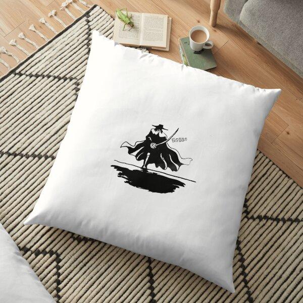 Zorro Silhouette Floor Pillow