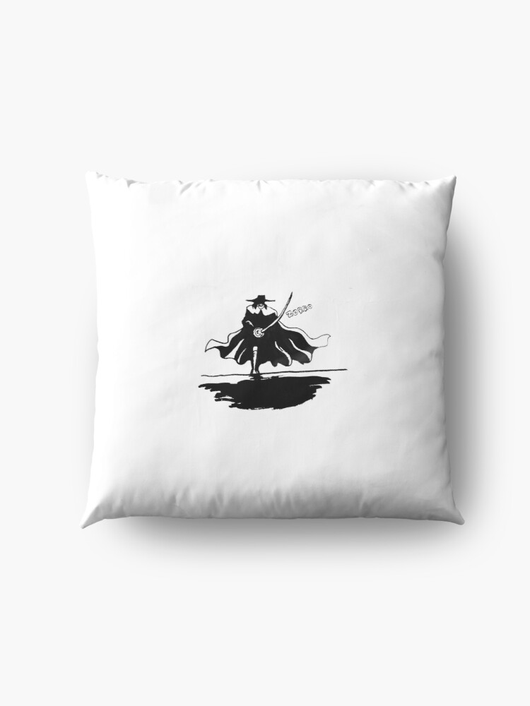 Alternate view of Zorro Silhouette Floor Pillow