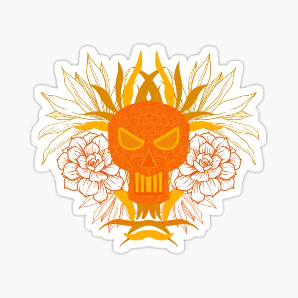 Skull with flowers  Sticker