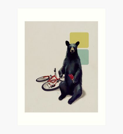 Summer Bear Art Print