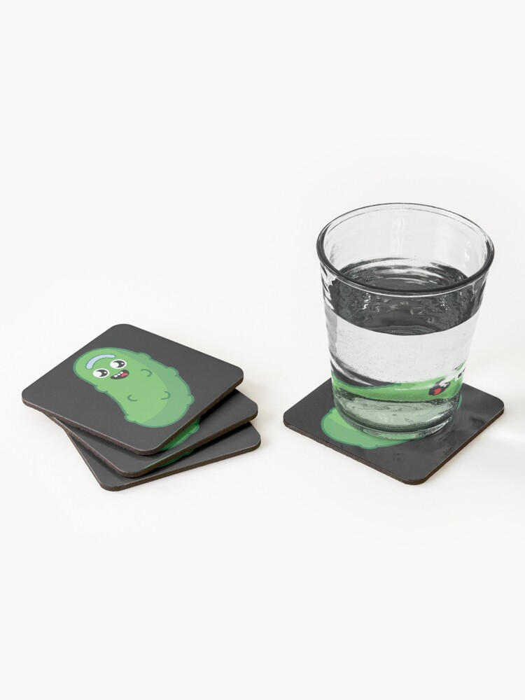 Alternate view of Kawaii Pickle Rick Coasters (Set of 4)