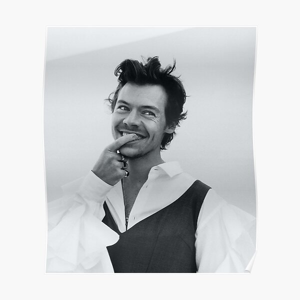 bw smiling styles Poster