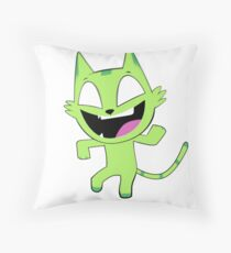 Beast Boy Cat Dance (No Text Version) Throw Pillow