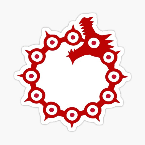 Los siete pecados capitales Meliodas Dragon Sin of Wrath Face Pegatina