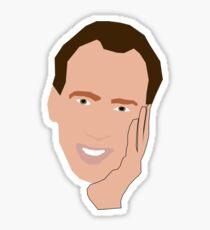 Creepy Nick Cage Sticker