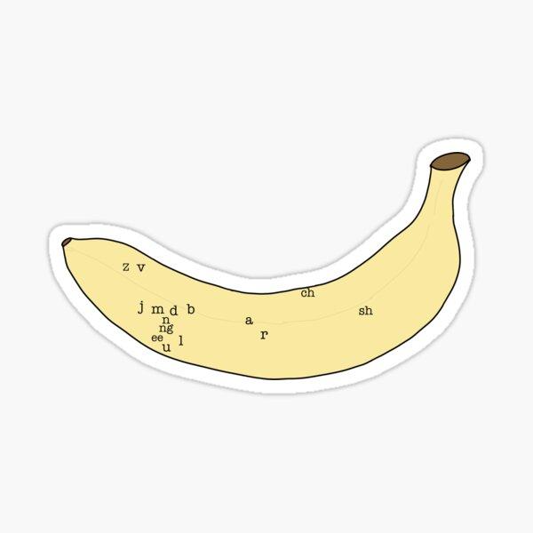 Plátano de habla Pegatina
