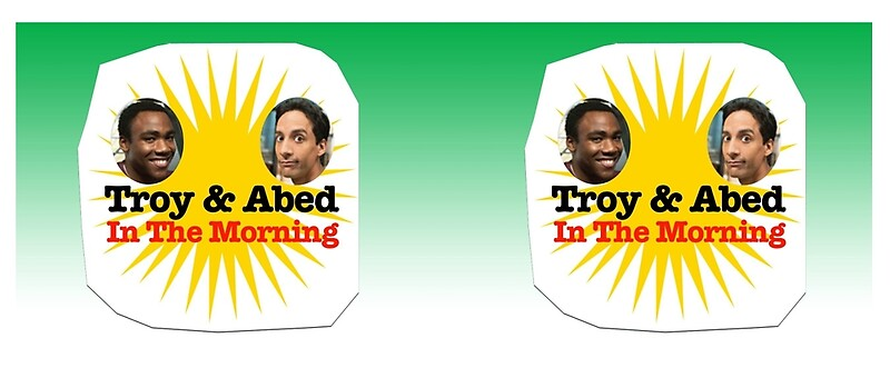 """""""Community Troy and Abed in the Morning"""" Mugs by ..."""