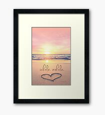 inhale. exhale. Framed Print