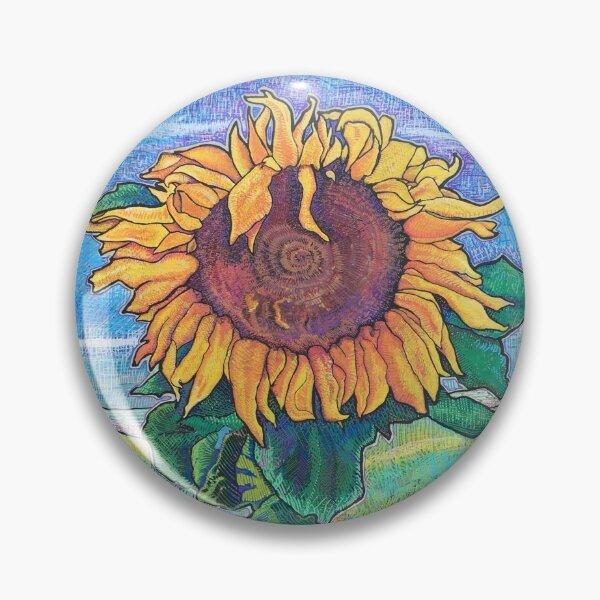 Sunflower Moderna Pin