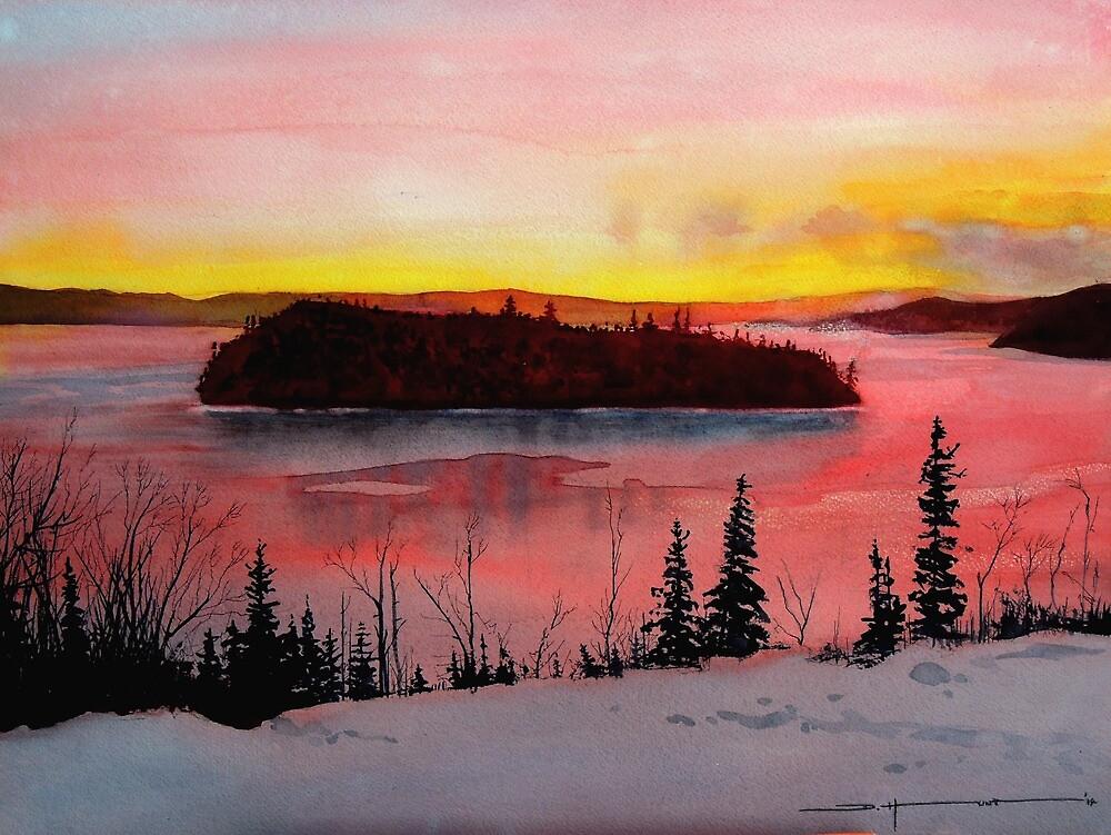 Boon Island Sunrise by Douglas Hunt