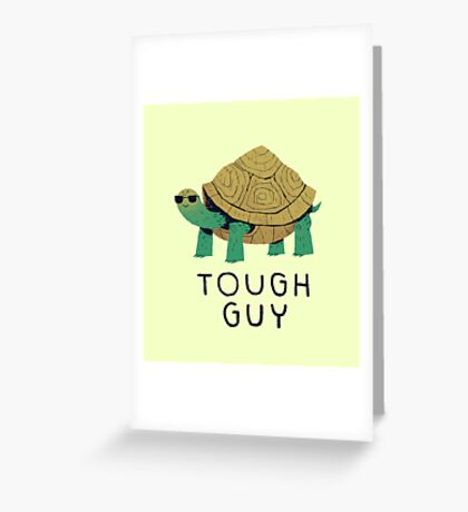 tough guy Greeting Card