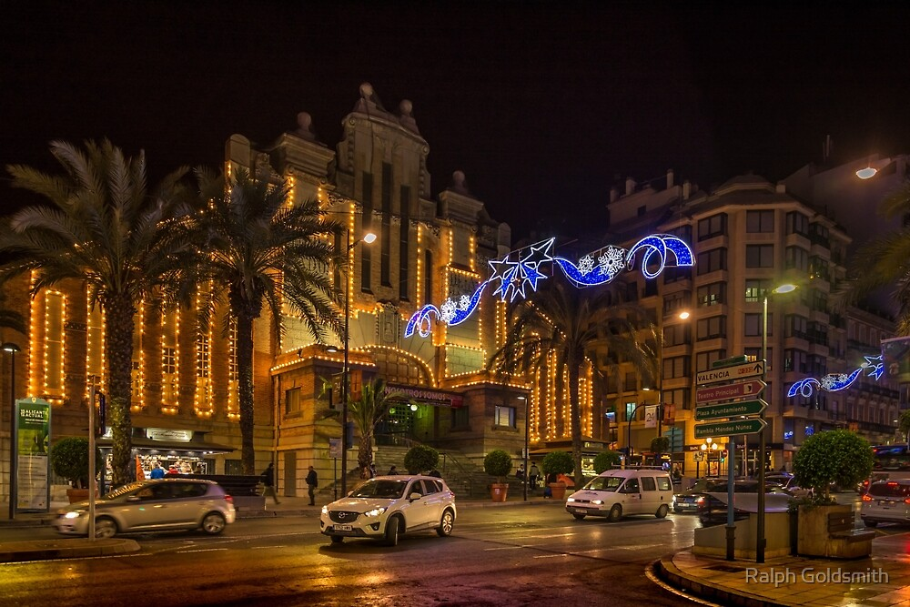 All lit up for Christmas by Ralph Goldsmith