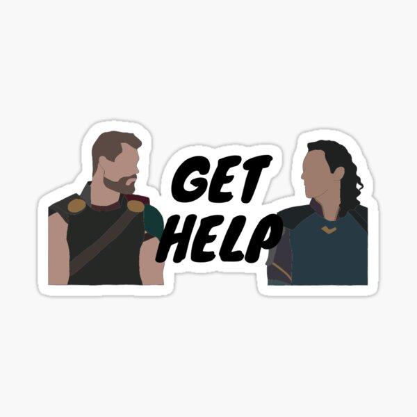 get help Sticker