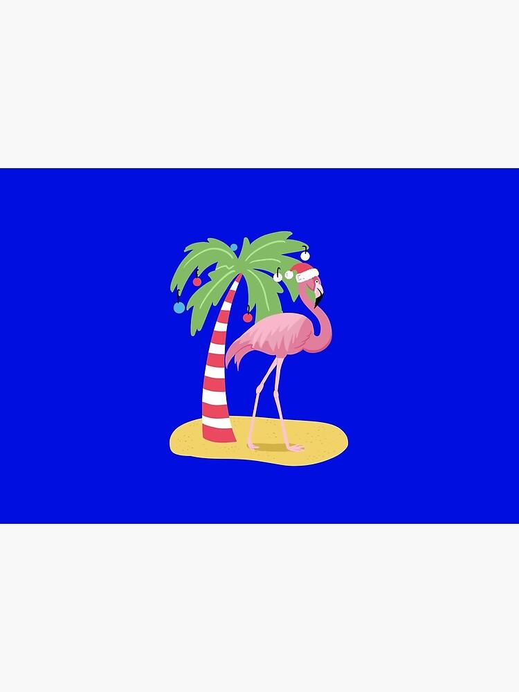 Vintage Flamingo | Tropical Christmas  by Kittyworks