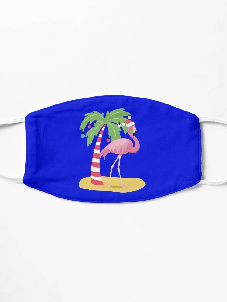 Alternate view of Vintage Flamingo | Tropical Christmas  Mask