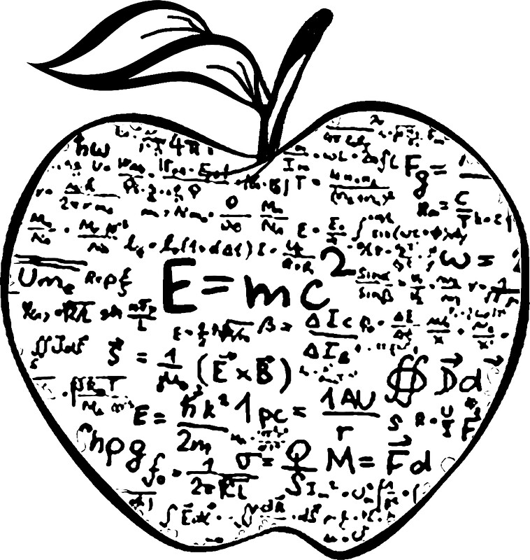 Quot einstein e mc equation art stickers by toshibung