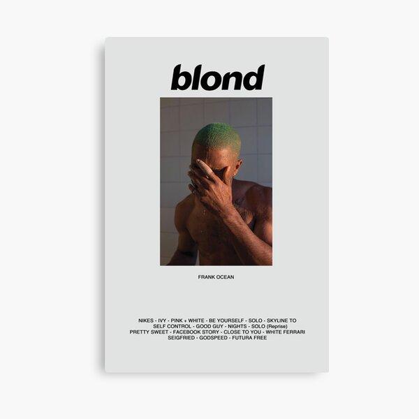 Póster Álbum de Frank Ocean Blonde Lienzo
