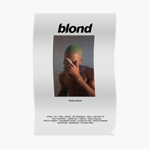 Póster Álbum de Frank Ocean Blonde Póster