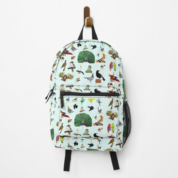Birds With Light Blue Background Backpack