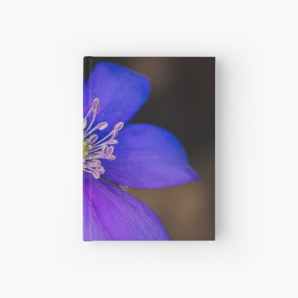 Blue flower Hardcover Journal