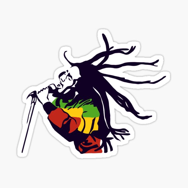 Bob Marley - The King of Reggae Sticker