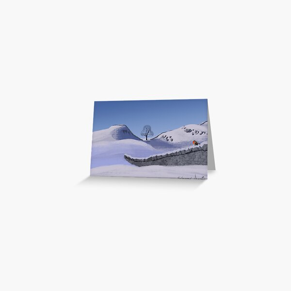 Sycamore Gap Tree in Winter Greeting Card