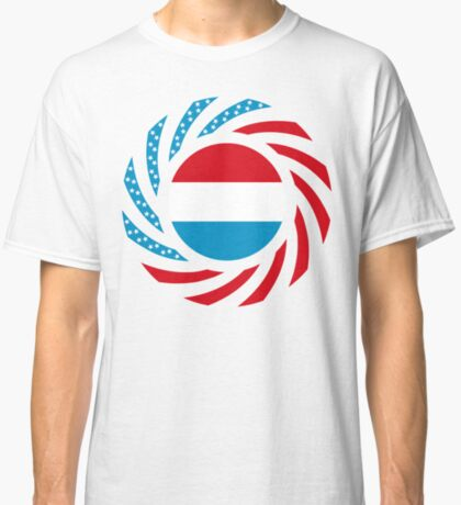 Luxembourgish American Multinational Patriot Flag Series Classic T-Shirt