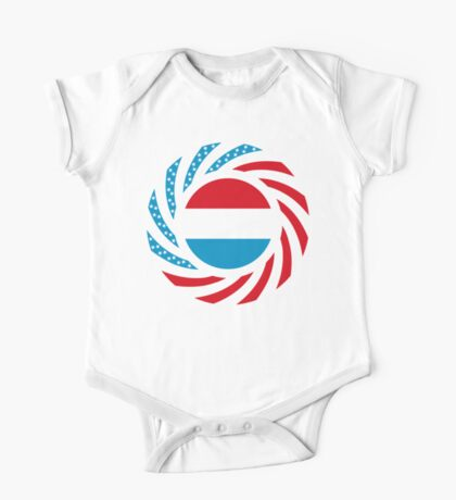 Luxembourgish American Multinational Patriot Flag Series Kids Clothes