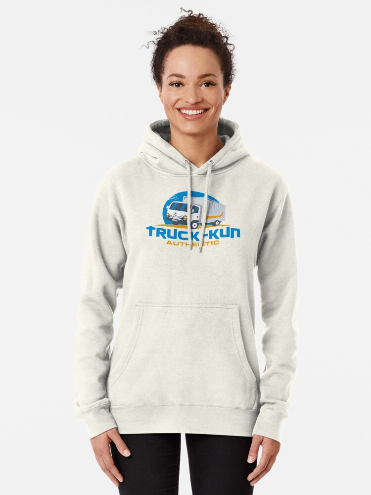Alternate view of Truck-kun Authentic Pullover Hoodie