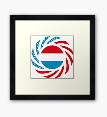 Luxembourg American Multinational Patriot Flag Series Framed Print