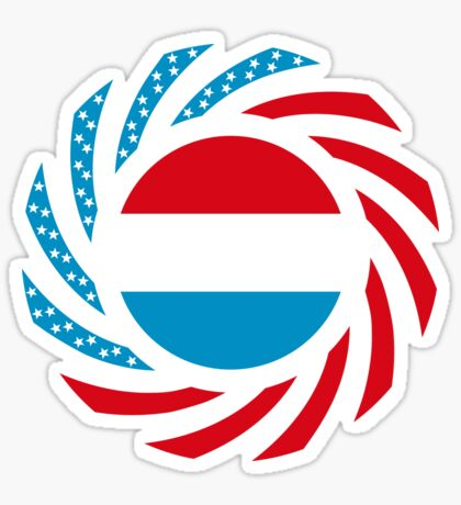 Luxembourgish American Multinational Patriot Flag Series Sticker
