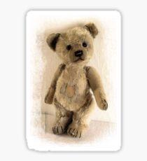 teddy bear retro Sticker